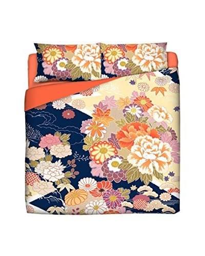 JAPAN MANIA by MANIFATTURE COTONIERE Juego De Funda Nórdica Kimono