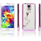 iProtect Schutzhülle Samsung Galaxy S5 Hülle Fairy Style transparent pink