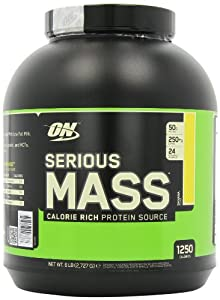 Optimum Nutrition Serious Mass Gainer Banana, 1er Pack (1 x 2.7 kg) by Optimum Nutrition
