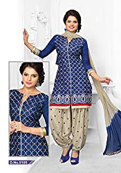 Venisa Cambric Cotton Blue Color Salwar Suit Dress Material