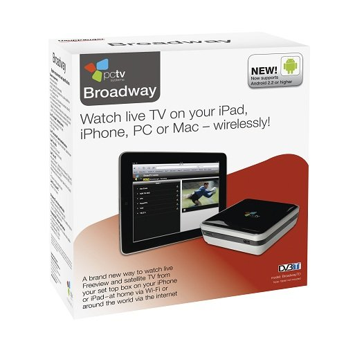 PCTV Systems Broadway - Watch LIVE TV on your iPad, your TV, your way (via WiFi or 3G)