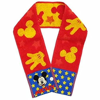 Disney Mickey Mouse Kids muffler towel Slim Long Towel Shape Sports towel