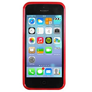 STK Thermoplastic Polyurethane Back Cover for Apple iPhone 5C (Red)