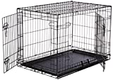 AmazonBasics Double-Door Folding Metal Dog Crate - Medium (36x23x25 Inches)