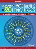 echange, troc Henri Goursau - Dictionnaire de l'Aeronautique en 20 Langues - Anglais