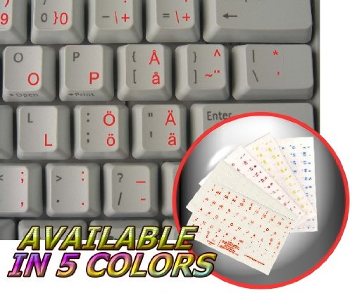 SWEDISH - FINNISH NEW KEYBOARD LABELS LAYOUT WITH RED LETTERING ON Crystalline BACKGROUND FOR DESKTOP, LAPTOP AND NOTEBOOK