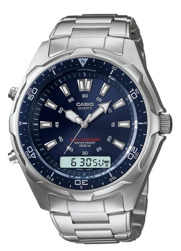 Casio Men's Sport Alarm Ana-Digi Blue Dive Watch #AMW320RD-2AV