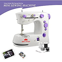 BMS Lifestyle 4in1 Smart Portable Electric Sewing Machine With Demo CD (White , 1 Year Warranty)