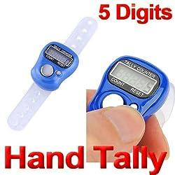 NEW Digital 5 Digit Finger Ring Tally Counter