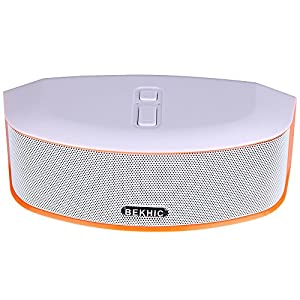 Bluetooth Speakers, Bekhic 3D-GS HIFI Portable Wireless Bluetooth Speaker (White)