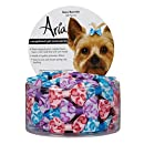 Aria Polyester Kaya Dog Barrettes Canister, 1-1/2-Inch, 48-Pack