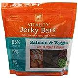 DOGSWELL 842348 Vitality Salmon Veggie Jerky Bar for Pets, 15-Ounce