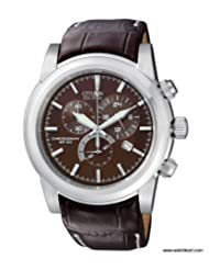 Citizen Eco-Drive Analog Brown Dial Men's Watch AT0555-18X