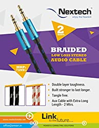 Nextech Braided Low Loss Stereo Audio Cable - 2 Mtrs.