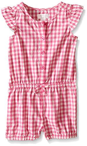The Children's Place Girls' Toddler Gingham Romper, Bermuda, 3T