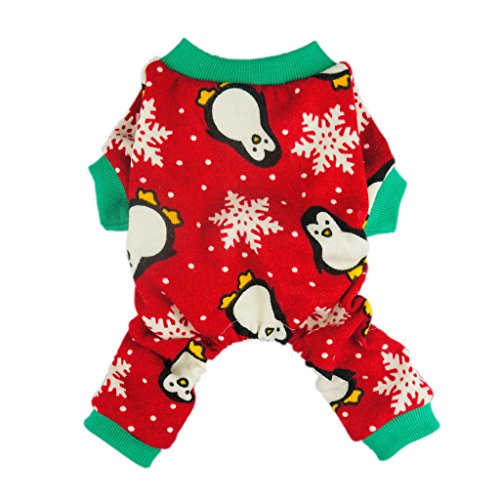 Fitwarm-Cute-Penguin-Xmas-Pet-Clothes-for-Dog-Pajamas-Soft-Christmas-PJS-Red