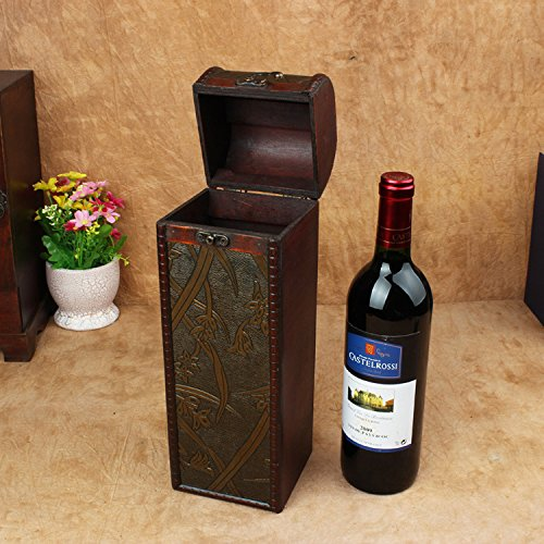 YZL/ Vintage wine package. single wine boxes. antique box. wooden box. creative gift box