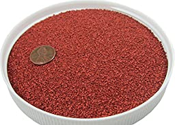 Red Fine Gravel 20 lbs - Safe for Sandboxes, Substrate and Landscaping