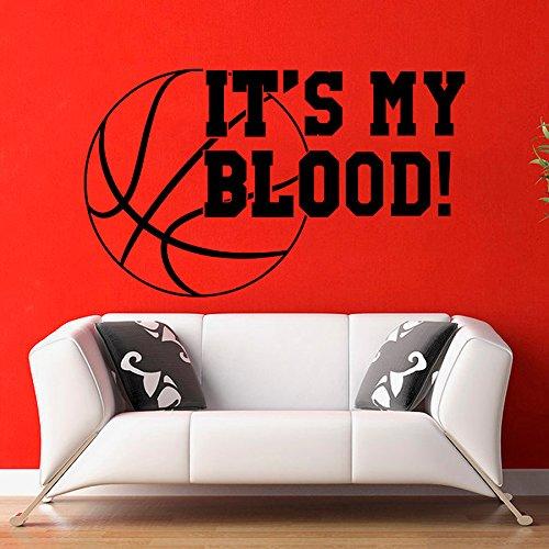 chadme da parete in vinile con citazione Sport PLAY Basket è il mio sangue Design Vinile Decalcomanie Palestra per cameretta Living Room Decor