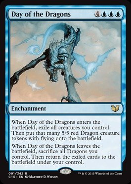 Magic: the Gathering - Day of the Dragons (091/342) - Commander 2015 (Mtg Blue Dragons compare prices)