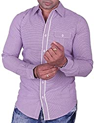 Equipoise Men's Cotton Casual Shirt (EQ-13 XL/44_Grey_XL)