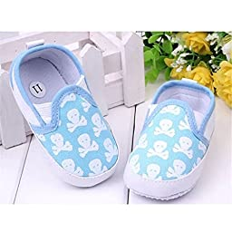 Foreveryang Unisex Baby Antiskid Flat Slip On Shoes Printing Canvas Shoes 11cm