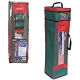 "Wrapping Paper Storage Bag- Heavy Duty Christmas Gift Wrap Bag with Handles (36"" x 10""x10"")"