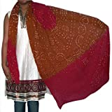 Neck Long Scarf Cotton Dupatta for Women Clothing Accessory from India 92 x 213 cmsby DakshCraft