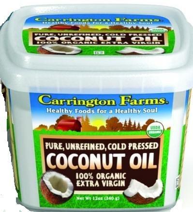 Carrington Farms Organic Extra Virgin Coconut Oil, 12 Fluid Ounce Tub -- 6 Per Case.