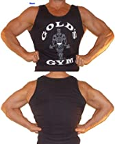 G321 Golds Gym Mens Tank Top Regular Cut (XXL, Black)