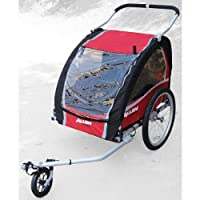 Allen Premium Aluminum 2 Child Bicycle Trailer and Stroller by Allen