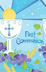 First Communion Blue Paper 54in X 102n Table Cover