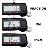 VINCA DCLA-0605 Quality Electronic Digital Caliper Inch/Metric/Fractions Conversion 0-6 Inch/150 mm Stainless Steel Body Red/Black Extra Large LCD Screen Auto Off Featured Measuring Tool