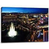 Foto Las Vegas sobre lienzo Tamaño: 80x60 cm. Impresión del arte de alta calidad como un mural. Más barato que...