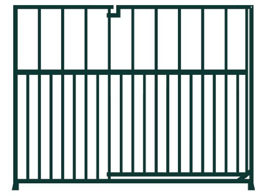 Unipanel Stubby Gate 1m x 0.9m high black garden fencing panel - build your own fence/enclosure