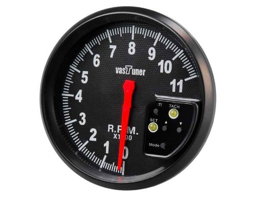 """5"""" Colorful Shift Light Speedometer Tachometer With Alarm (Black)"""