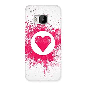 Ajay Enterprises WoSplash Heart Back Case Cover for HTC One M9
