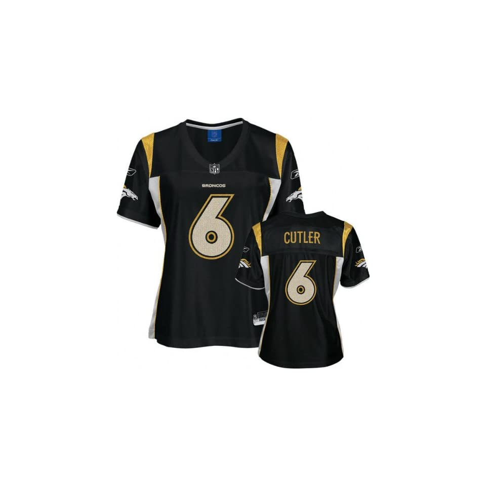 c6e6e4bf8 Jay Cutler Black Reebok Alloy Fashion Denver Broncos Womens Jersey ...