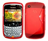 Goldstar S line Silicone Gel Case Cover For Blackberry Curve 8520/9300 (Red)