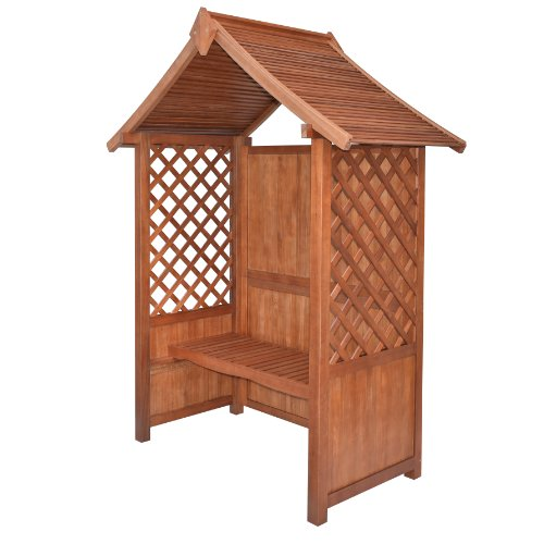 Rowlinson Canterbury Hardwood Arbour - Factory Stain Brown Finish