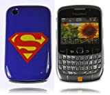 Superman Blue Hard Plastic Case for Blackberry Curve 8520/9300