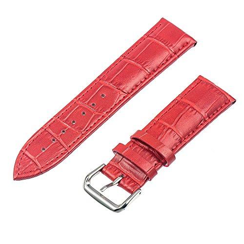 TRUMiRR 22 mm Genuine Leather sostituzione della cinghia del cinturino della fascia del braccialetto per Samsung Gear 2 R380 Neo R381 Live R382, Samsung Gear S3 Classic/Frontier, Moto 360 2 46 mm, Pebble Tempo/Acciaio, Asus ZenWatch 1 2 Uomini, LG G Watch Urbane W150
