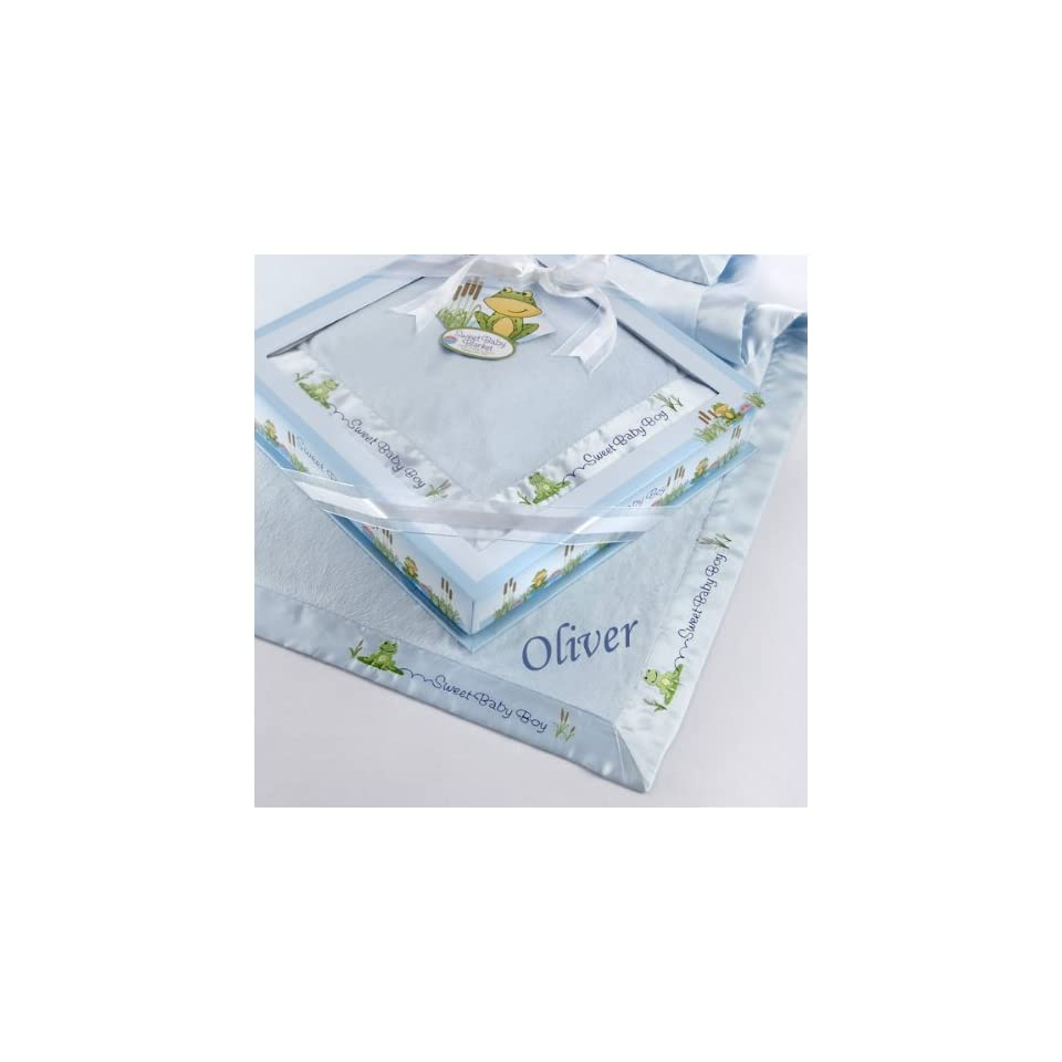 Sweet Baby Boy Personalized Baby Blanket Baby