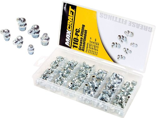MAXCRAFT 7723 Hydraulic Grease Fitting Assortment, 110-Piece