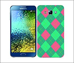 Galaxy Printed 1806 Argyle Green and Peach Hard Cover for Samsung CORE PLUS