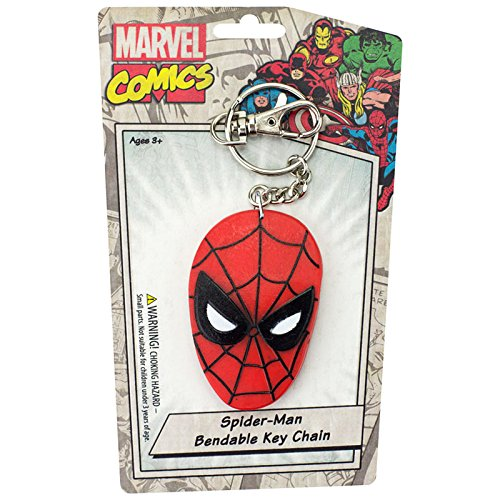 Key Chain - Marvel - Spider-Man's Face Bendable New Toys Licensed krb-4611