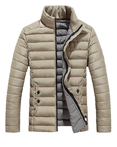 LaoZan Cappotto Piumino di Inverno con Cerniera Morbido e Caldo per Uomo - Gamba - Medium