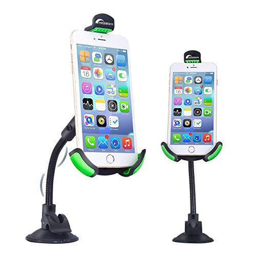 Moobom Car Mount Long Arm 360 Degree Rotation Windshield Car Mount with Suction Cup Phone Holder Cradle Stand For IPhone Smartphone Android Devices