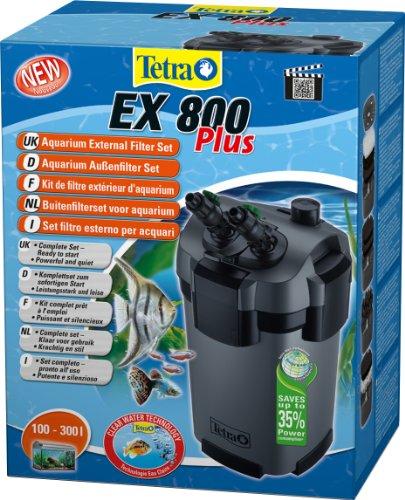 Tetra Aquarien Außenfilter EX 800 Plus, leistungstarker Filter für Aquarien von 100-300 L, Komplettset mit Ansaughilfe zum Schnellstart und Filtermedien, schafft kristallklares fischgerechtes Wasser