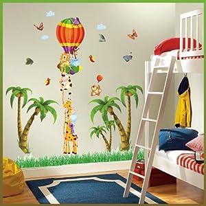 Giraffe Lion Elephant Bear Butterflies Balloon Height